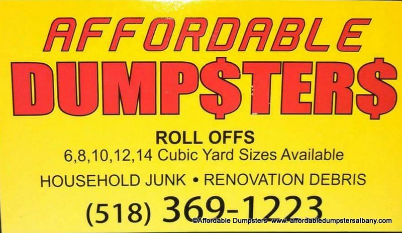 Affordable Dumpsters, Albany, Schenectady, Troy, and Saratoga, NY